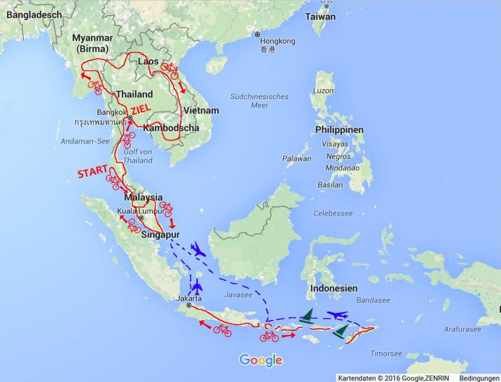 Fahrrad-Tour durch Süd-Ost Asien